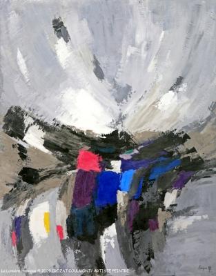 """Abstraction/ Art abstrait- Original Art Peinture- Tableau abstrait """"La Lumière Humaine"""" ©2009 Crozat Coulmont Artiste peintre- Peintre français- Peinture abstraite"""