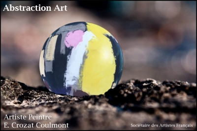 Tableau Abstrait- Art Peinture Unique (Enduit de Chaux/ bois)- Abstraction