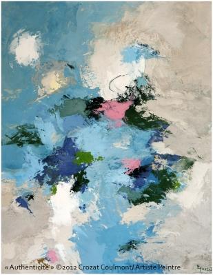 Artiste contemporain- Art peinture unique (Enduit de chaux/ bois)