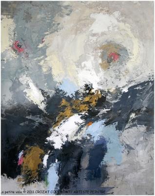 Tableau Abstrait- Peinture Unique (Enduit de chaux/ bois)