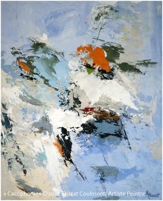 Abstraction- Original Art Peinture (Enduit de chaux/ bois)