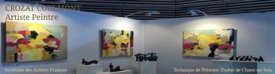 France Peintres, L'Artiste Peintre Abstrait Crozat Coulmont