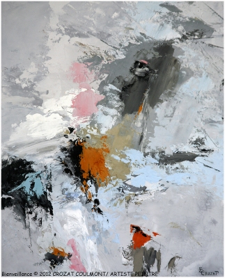 French Artist- Crozat Coulmont Abstraction Art Painting