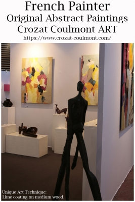 French Artist- Crozat Coulmont Abstraction Art Paintings