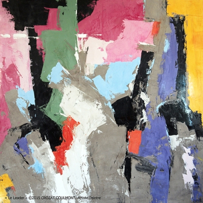 Abstrait Contemporain- Original Art Collection (Enduit de chaux/ bois)