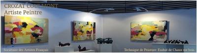 Art Abstrait, Peinture Abstraite, Le Peintre Crozat Coulmont