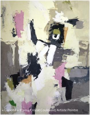 Tableau Peinture Abstraite Contemporaine (Enduit de chaux/ bois)
