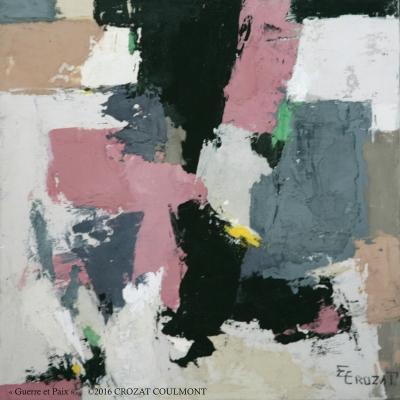 Peinture Abstraite Moderne et Unique (Enduit de chaux/ bois)