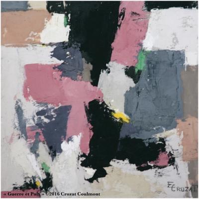 Peinture Abstraite Contemporaine Moderne et Unique (Enduit de chaux/ bois)
