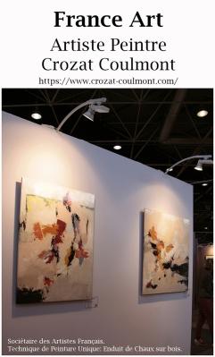 Artiste Peintre Crozat Coulmont, Abstraction Picturale.