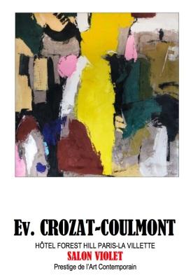 Le Peintre Crozat Coulmont- Tableau d'Art Unique (Enduit de chaux/ bois)- France
