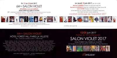 Le Peintre Français Crozat Coulmont- Salon Violet 2017- Invitation
