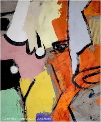 Art Abstrait Contemporain, Matière Picturale (Enduit de Chaux/ bois)