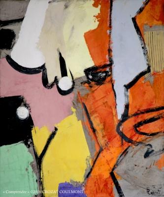 Art Abstrait Contemporain- Tableau Unique (Enduit de chaux/ bois)