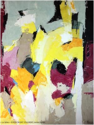 Femmes Artistes- Peintre Française- Peinture Contemporaine (Enduit de chaux/ bois)